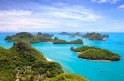 Vista aérea do parque nacional de Angthong, Tailândia Fotografia de Stock Royalty Free
