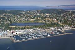 Vista aérea do porto Townsend Imagens de Stock
