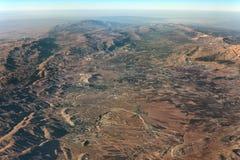 Vista aérea do Vale do Beqaa, Líbano Fotos de Stock Royalty Free