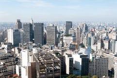 Vista aérea dos edifícios em Sao Paulo. Fotografia de Stock