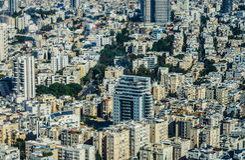 Vista aérea em Tel Aviv Imagem de Stock
