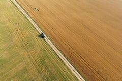 Vista areale del campo di grano Fotografia Stock Libera da Diritti