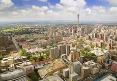 Vista areale dell'orizzonte di Johannesburg Fotografie Stock Libere da Diritti