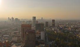 Vista areale della capitale del centro del Messico da Torre Latinoamericana fotografia stock