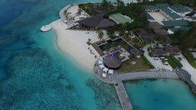 Vista areale della località di soggiorno delle Maldive Fotografia Stock