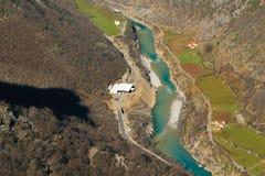 Vista areale fondo naturale delle alpi albanesi, paesaggio Immagine Stock Libera da Diritti