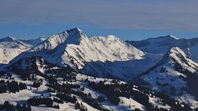 Vista aree dello sci di Wasseregrat e di Hornberg Immagine Stock Libera da Diritti