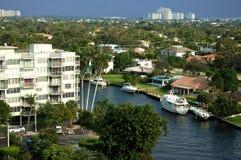 vista areial del canale della Florida Fotografia Stock