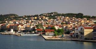 Vista a Argostoli Kefalonia Fotografia Stock Libera da Diritti