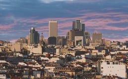Vista arial panoramica di Madrid Fotografia Stock Libera da Diritti