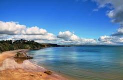 Vista arrebatadora de la playa del norte, Tenby. Fotografía de archivo libre de regalías