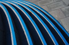 Vista artistica delle scale vicino alla città universitaria di Schoolhill, Aberdeen, Scozia fotografia stock libera da diritti