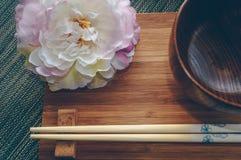 Vista ascendente cercana del tablewear diseñado japonés foto de archivo libre de regalías