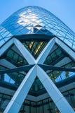 Vista ascendente del cetriolino (30 st Mary Axe) Fotografia Stock Libera da Diritti