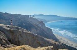 Vista asombrosa de la Costa del Pacífico cerca de San Diego, California Foto de archivo libre de regalías