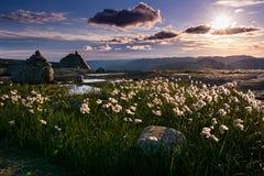 Vista asombrosa de la naturaleza septentrional, manera a Kjeragbolten Noruega, Europa Fotos de archivo libres de regalías