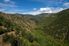 Vista asombrosa del paisaje verde de la montaña de Ograzhden Imagen de archivo libre de regalías