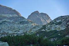 Vista asombrosa del pico de Malyovitsa, montaña de Rila Foto de archivo libre de regalías