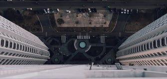 Vista assustador - não olhe para baixo! foto de stock royalty free