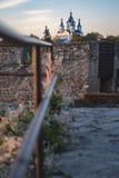 Vista astratta della chiesa di Cerkiew Grzegorza Fotografia Stock Libera da Diritti