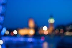 Vista astratta della città Fotografia Stock