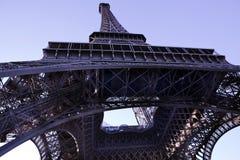 Vista astratta della Torre Eiffel Fotografia Stock