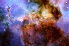 Vista astratta di una galassia con il materiale illustrativo della nebulosa immagini stock