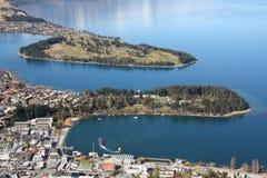 Vista através de Queenstown Nova Zelândia Imagens de Stock