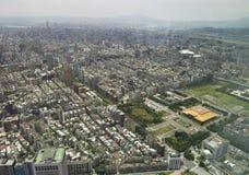 A vista através de Taipei, captial de Formosa fotos de stock royalty free