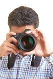 Vista através de uma lente Imagem de Stock