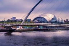 Vista através do River Tyne Fotografia de Stock Royalty Free