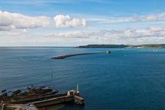 Vista através do som de Plymouth Imagem de Stock