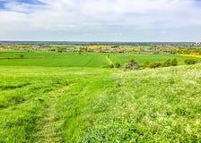 Vista através dos campos a Hyekham norte Lincolnshire fotografia de stock royalty free