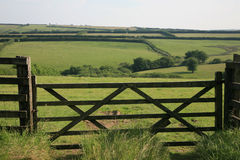 Vista attraverso Exmoor Fotografie Stock Libere da Diritti