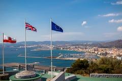 Vista attraverso il confine in Spagna fotografia stock libera da diritti
