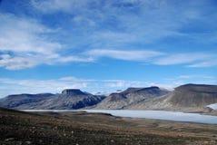 Vista attraverso il lago Ekblaw Immagini Stock