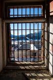 Vista attraverso la finestra ingraticciata Immagine Stock Libera da Diritti