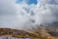 Vista attraverso le nuvole Fotografia Stock