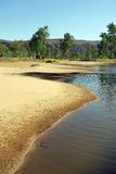 Vista australiana del fiume fotografia stock libera da diritti