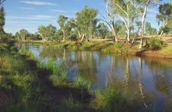 Vista australiana del fiume Immagine Stock
