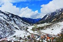 Vista Austria della valle delle montagne delle alpi Fotografia Stock Libera da Diritti