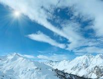 Vista Austria di inverno delle alpi di Silvretta Immagini Stock