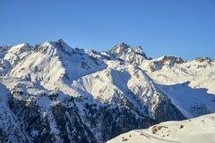 Vista Austria di inverno delle alpi di Silvretta Fotografie Stock