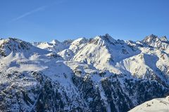 Vista Austria di inverno delle alpi di Silvretta Fotografia Stock