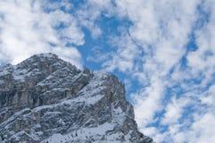 Vista austriaca delle alpi di inverno Fotografia Stock Libera da Diritti