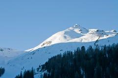 Vista austriaca delle alpi di inverno Fotografie Stock