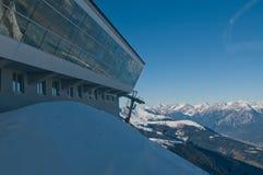 Vista austriaca delle alpi di inverno Immagini Stock