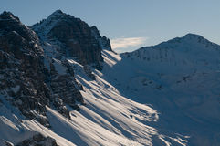 Vista austriaca delle alpi di inverno Immagine Stock
