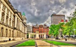 Vista ayuntamiento Belfast Foto de archivo