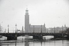 Vista ayuntamiento (Stadhuset). Estocolmo, Suecia Imagenes de archivo